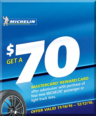 Current Michelin Offer on Tires